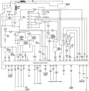 Wiring diagram, '89 Spirit 25 T1  Page 2  Turbo Dodge