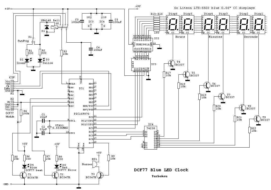 Led Clock Circuit Diagram