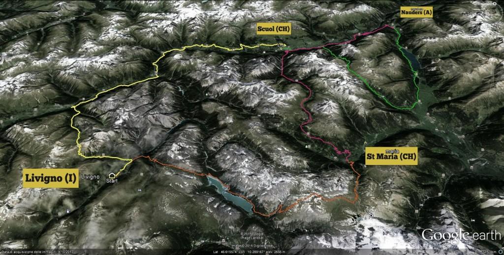 dreilander mountainbike tour mappa