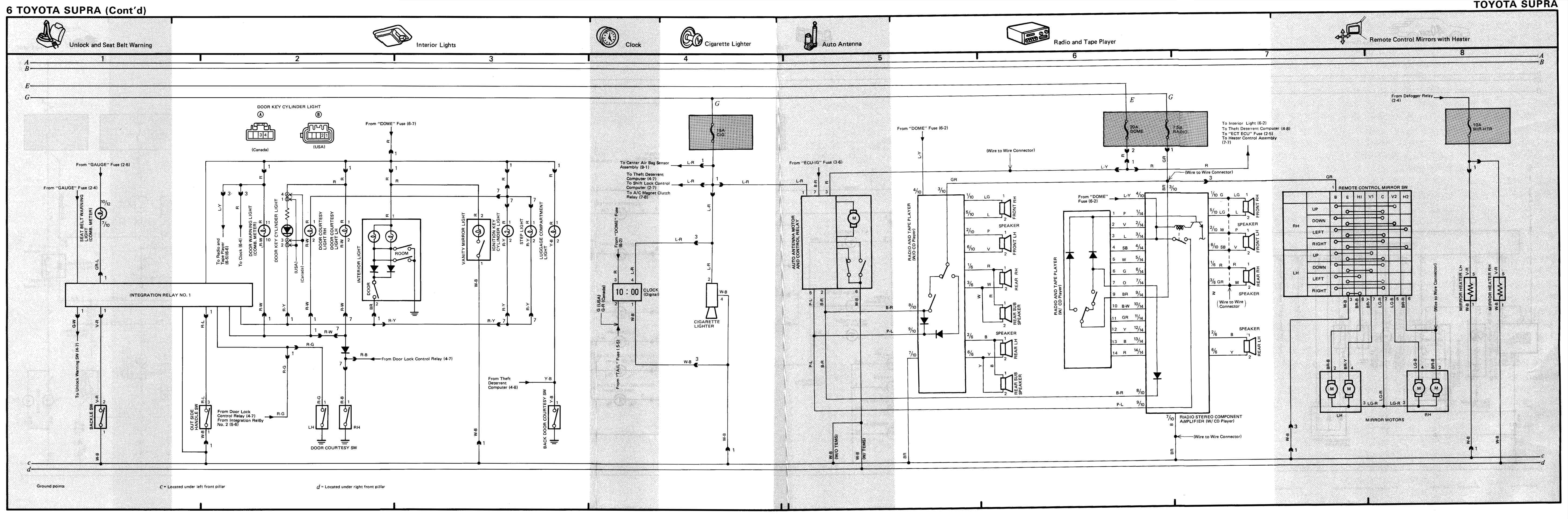 Flyout on Wiring Diagram 1996 Toyota Supra Turbo