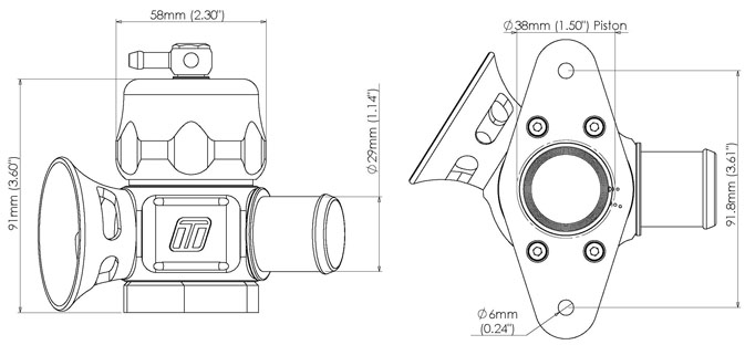BLOW OFF TURBOSMART Dual Port for Mazdaspeed3