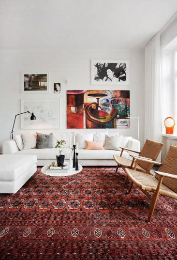 tendance deco le grand retour du tapis persan pelle lundquist appartement stockholm