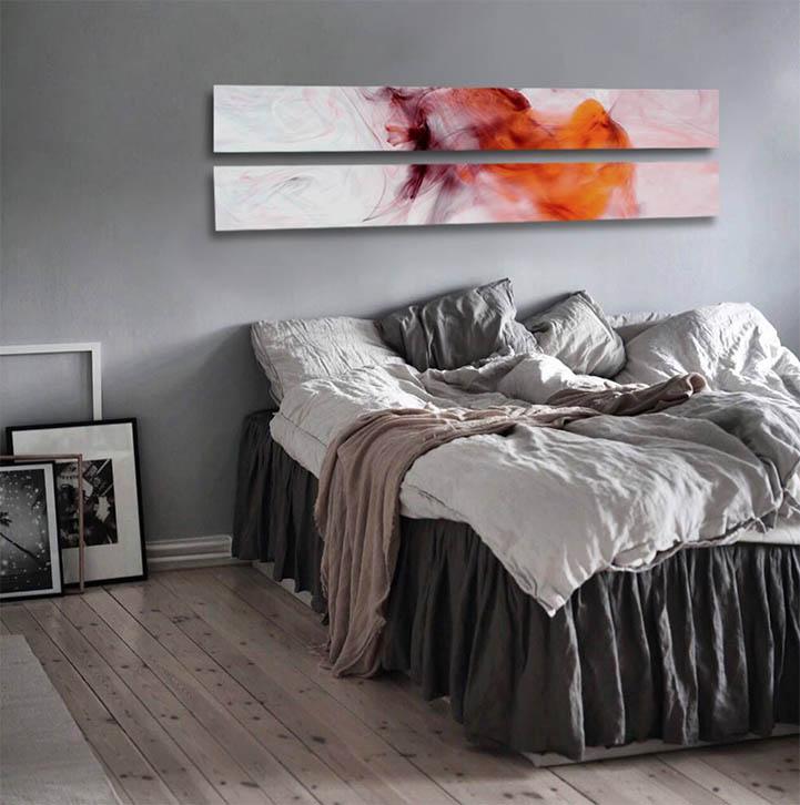 La scelta dei quadri per la camera da letto non è affatto scontata. Quadri Per Camera Da Letto By Turcati Art Design