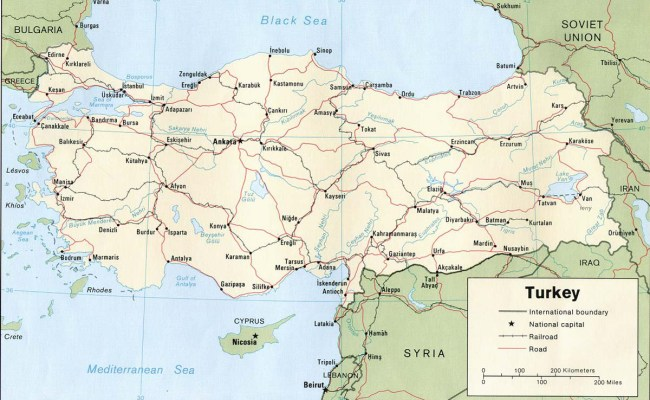 Turchia Carta Geografica