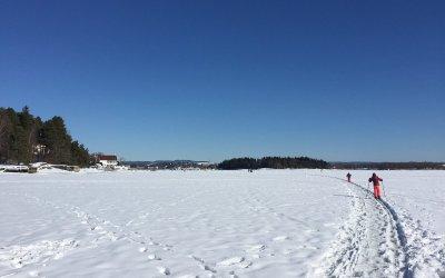 Skitur og grilling i fjæra