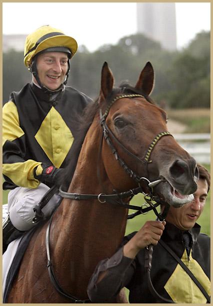 Jockey Norman Richter mit Abbashiva
