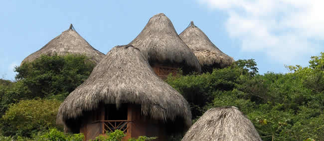 Hotel en el parque Tayrona