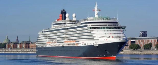 Cunard Lines krydstogtsskib Queen Victoria fotograferet under et besøg i København. I 2017 sætter krydstogtsturismen rekord, når der kommer der i alt 491 krydstogtsskibe på besøg i Danmark. (Arkivfoto: Stephan Deutsch)