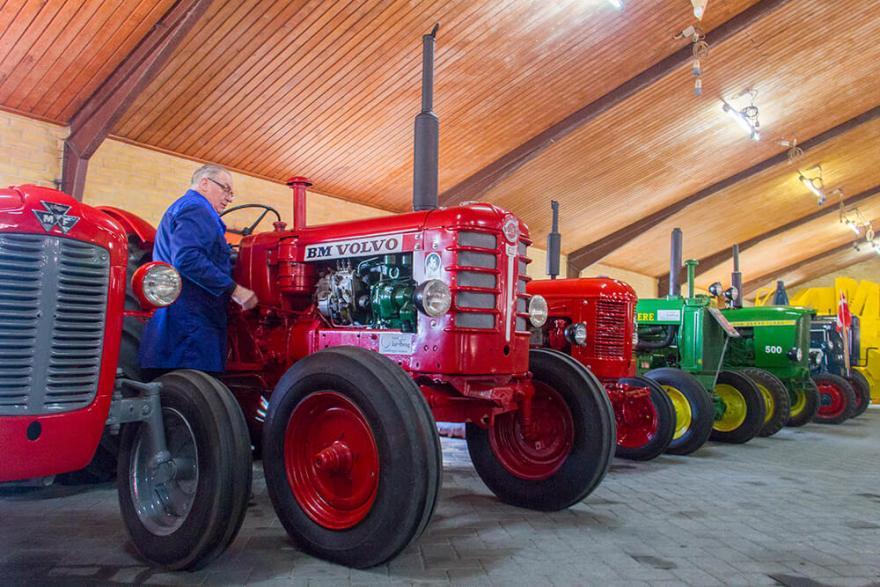 Det nye traktormuseum åbner i Nørre Nissum den 27. maj 2018. (PR-foto)
