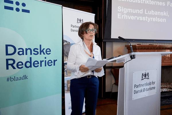 Næstformand i Landdistrikternes Fællesråd Grethe Saabye lancerede ø-partnerskabet. Samarbejdet skal blandt andet sætte skub i ø-turisme.(Foto:PR)