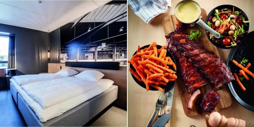 Foreløbig frem til og med juli kan gæster hos Zleep Hotels booke et ophold, der inkluderer et gavekort til Bone's restauranter. (Foto: Zleep/Bone's)