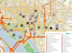 Mapa de Washington DC | TurismoEEUU | Qué ver, Sitios