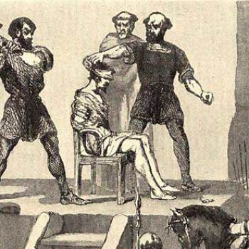 Muerte de Nuñez de Balboa decapitado