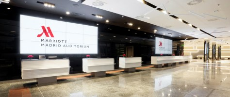 Recepción Congresos Marriott Auditorium