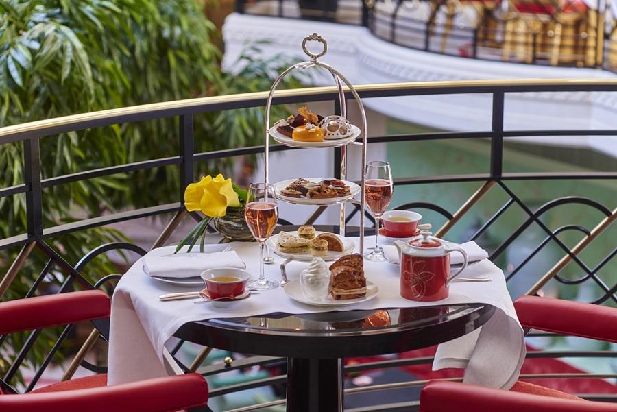 chá da tarde fora da Inglaterra
