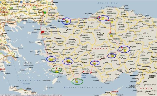 Turchia Mappa Satellitare