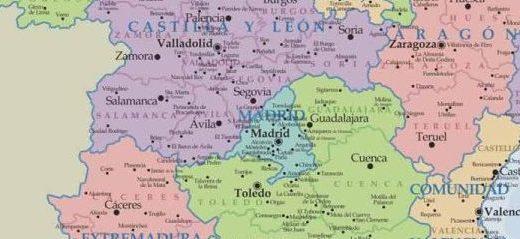 mapa comunidades autonomas de españa