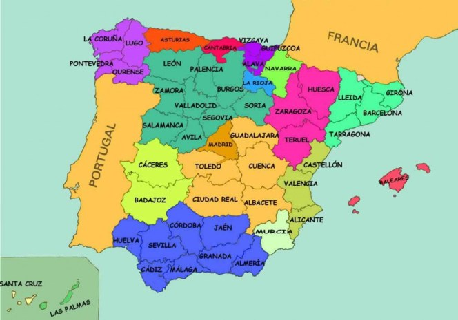 Mapa de las Provincias de España
