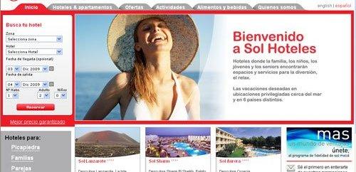 La Marca SOL Hoteles lanza un nuevo sitio WEB  2
