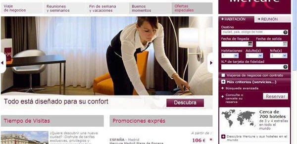 Mercure lanza su nueva web en español 2