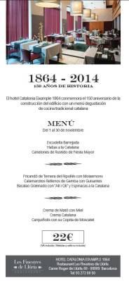 Hotel Catalonia Eixample 1864 conmemora el 150 aniversario 2