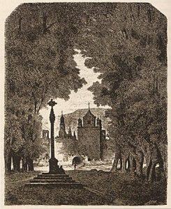 Monasterio de veruela, lámina de valeriano becquer