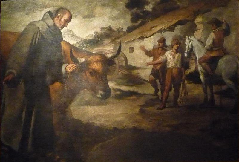 san francisco y el toro cuadro de murillo
