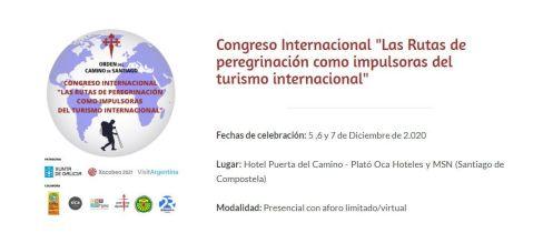 La Orden organiza un congreso internacional sobre las rutas de peregrinación como impulsoras del Turismo
