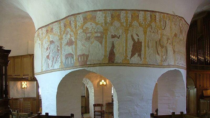 frescos en oesterlars iglesias danesas