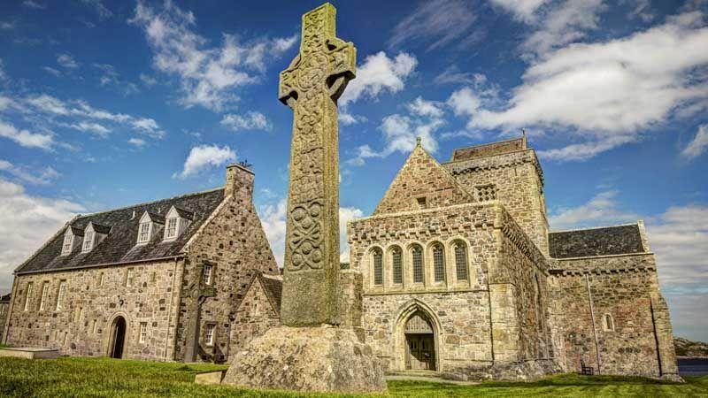 abadías escocesas en la isla de iona