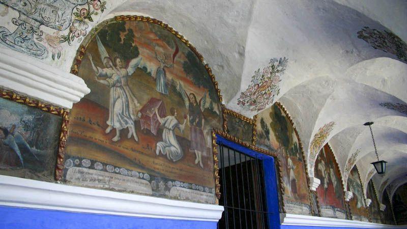 Frescos en el Monasterio de Santa Catalina