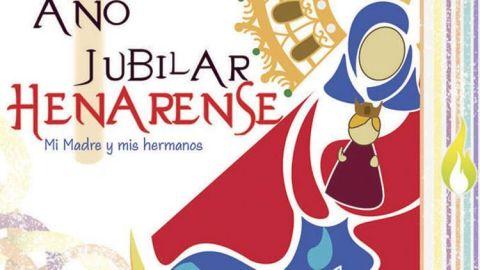 Cartel indicativo del año jubilar henarense
