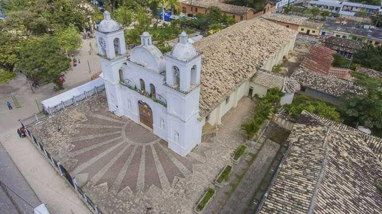 Vista aérea de la parroquia - Crédito Radio Progreso
