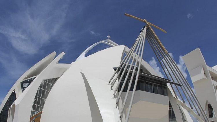 Vista del SAntuario del cristo de los milagros en republica dominicana