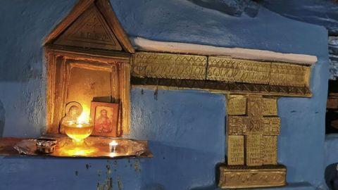 El icono de Panagia Spiliani, o la Virgen de las Cuevas es una versión del icono de la Virgen María que se ha asociado con dos lugares de Grecia. Estos están en Samos y Nissiros.