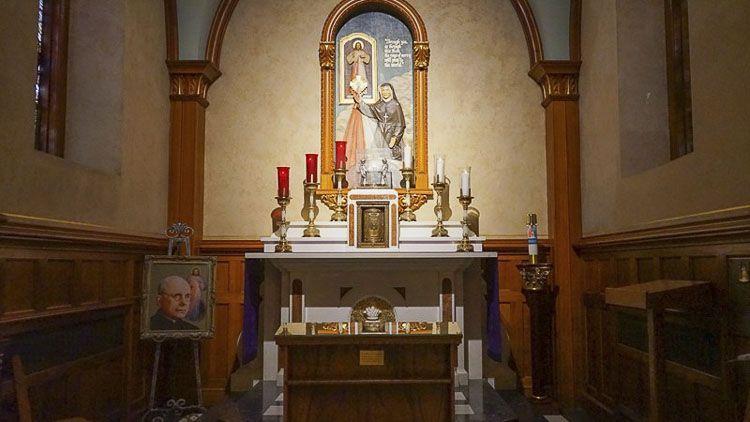 Capilla de Santa Faustina en el santuario nacional de la divina misericordia