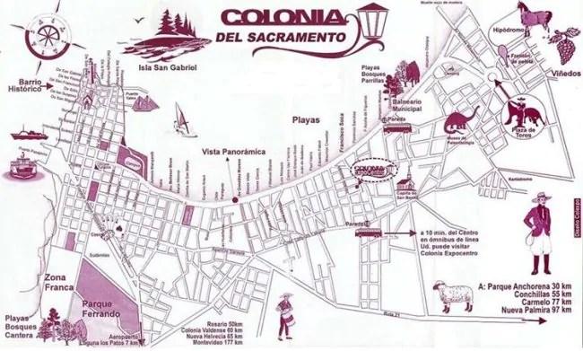 Mapa de colonia del sacramento