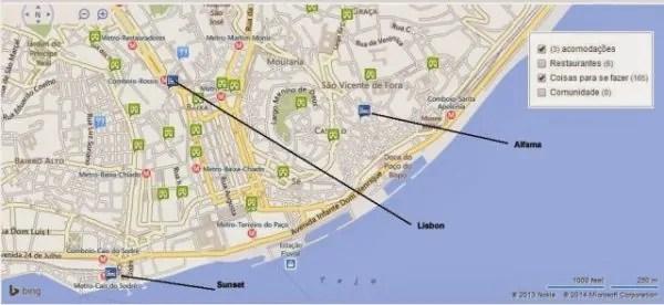 hostels destinations maps 600x276 Destination Hostel Lisboa