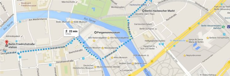 berlin Pergamonmuseum mapa2 O Bode Museum em Berlim