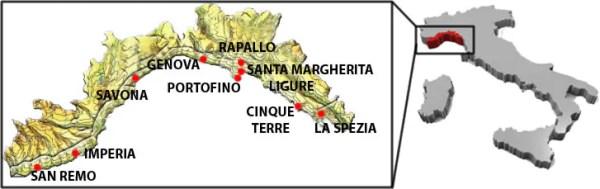 Mappa Liguria 600x189 Road Trip pelo litoral italiano: De Gênova à Cinque Terre