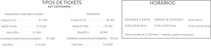 preços 1 SKY Costanera em Santiago: Os Andes vistos do alto!