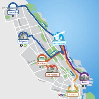 mapa2015 Transporte emBuenos Aires: Como circular pela cidade