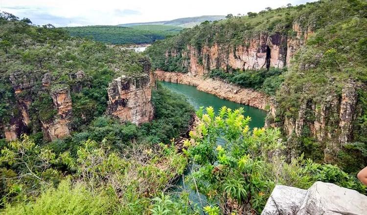 cachoeira grátis em Capitólio
