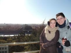 A vista da Cidade Proibida lá do alto do Bell Tower