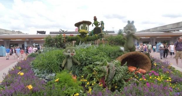 Como é o EPCOT Flower Garden