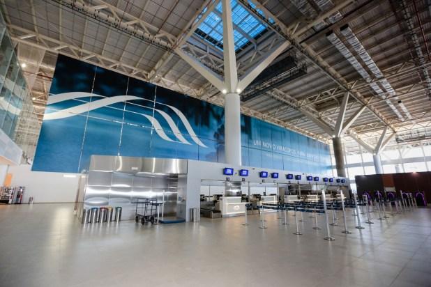 Foto da entrada do terminal internacional, retirada do próprio site do VCP