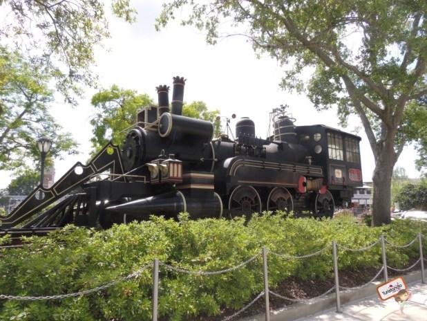 O trem do filme de volta para o futuro