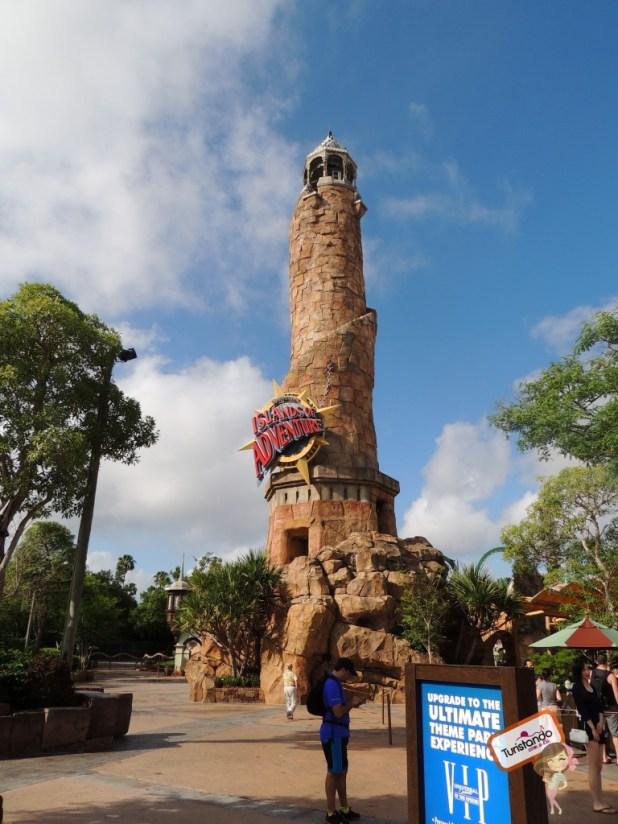 A entrada do Island of Adventure
