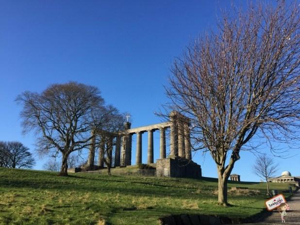 Topo do Calton Hill em Edimburgo