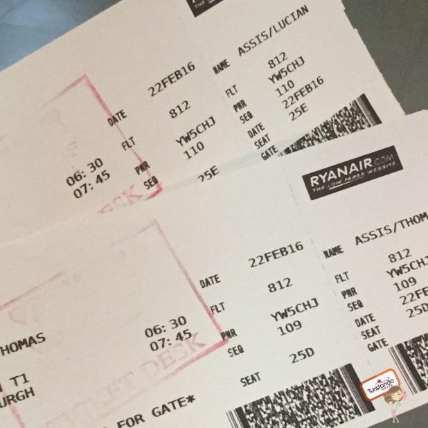 Check in impresso no aeroporto